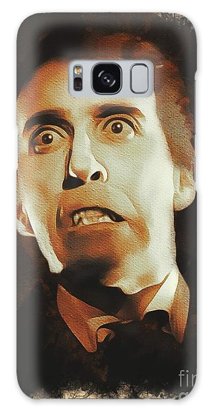 Dracula Galaxy Case - Christopher Lee As Dracula by Mary Bassett