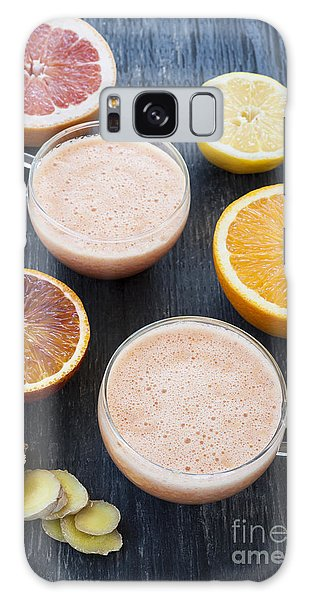 Citrus Smoothies Galaxy Case by Elena Elisseeva