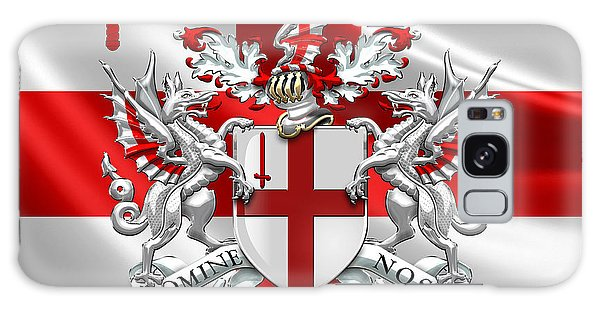 City Of London - Coat Of Arms Over Flag  Galaxy Case