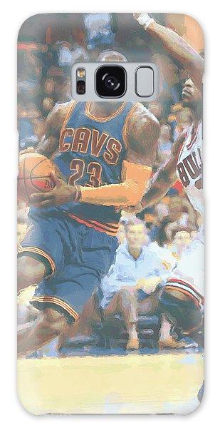 Cleveland Cavaliers Lebron James 2 Galaxy Case by Joe Hamilton