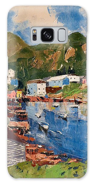 Galaxy Case featuring the painting Coastal Village, Newfoundland by David Gilmore