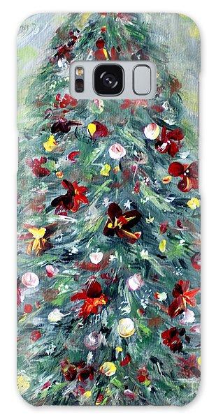 Christmas Tree. Green Galaxy Case