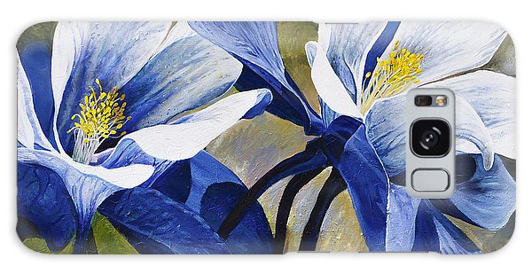 Galaxy Case featuring the painting Colorado Columbines by Aaron Spong