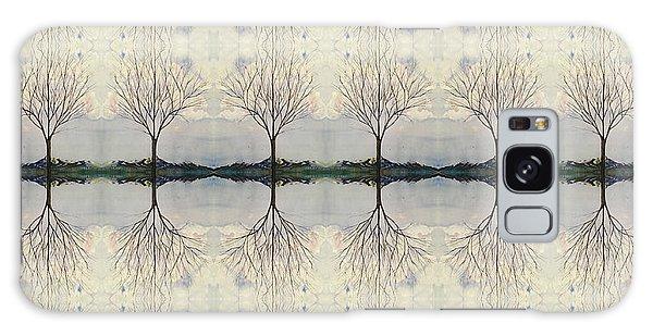 Colorado Cottonwood Tree Mirror Image  Galaxy Case