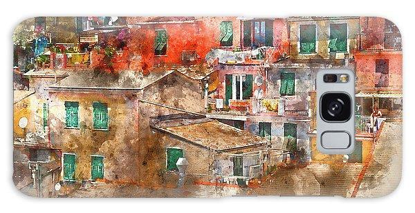 Colorful Homes In Cinque Terre Italy Galaxy Case
