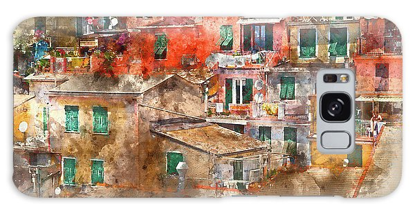 Colorful Homes In Cinque Terre Italy Galaxy Case