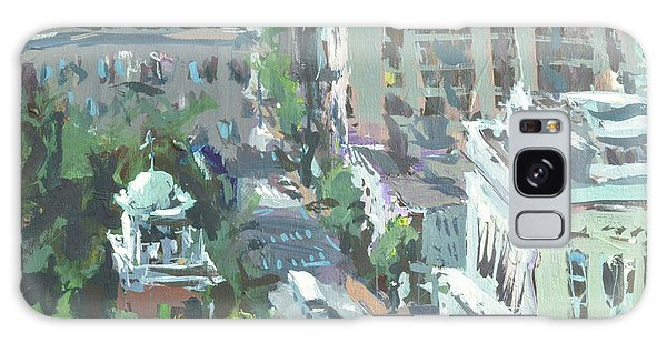Contemporary Richmond Virginia Cityscape Painting Galaxy Case