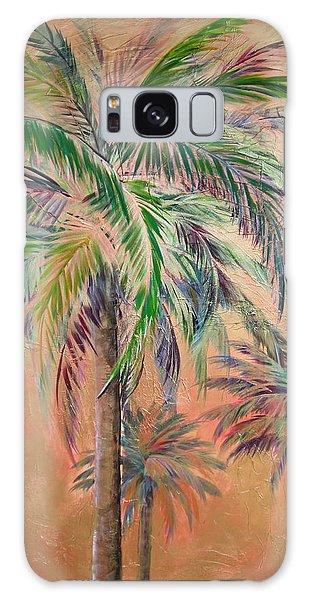 Copper Trio Of Palms Galaxy Case