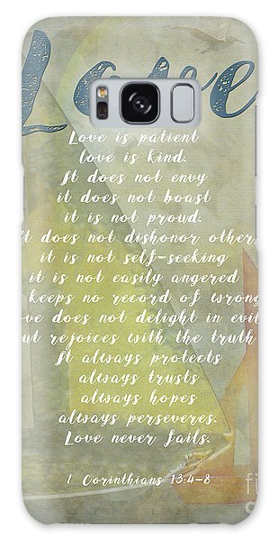 1 Corinthians 13 4-8 Love Is Patient Love Is Kind Wedding Verses. Great Gift For Men Or Home Decor. Galaxy Case