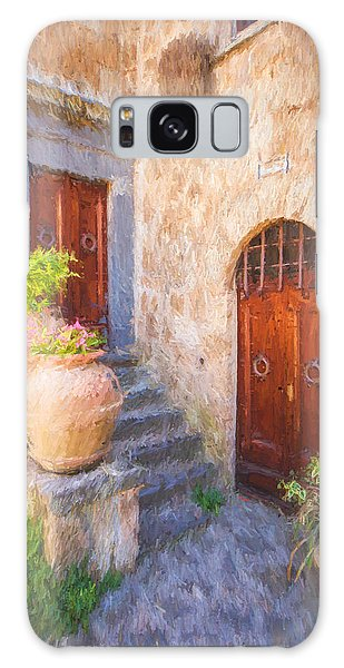 Courtyard Of Tuscany Galaxy Case