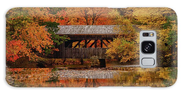 Covered Bridge At Sturbridge Village Galaxy Case