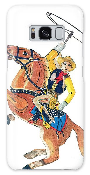 Cowboy With Lasso Galaxy Case