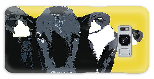 Cows - Yellow Galaxy Case