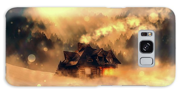 Cottage Galaxy Case - Cozy In Winter by Pixabay