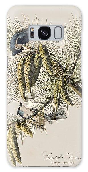 Titmouse Galaxy Case - Crested Titmouse by John James Audubon