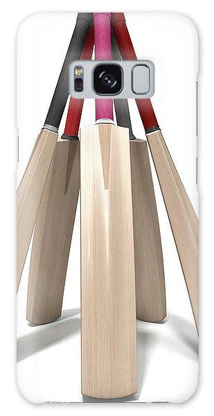 Cricket Bat Circle Galaxy Case by Allan Swart