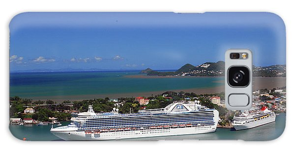 Galaxy Case featuring the photograph Cruise Port by Gary Wonning
