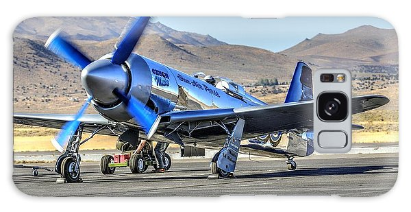 Galaxy Case featuring the photograph Czech Mate Engine Start Sunday Afternoon Gold Unlimited Reno Air Races by John King