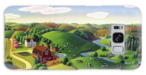 Dairy Farm  Galaxy Case by Robin Moline