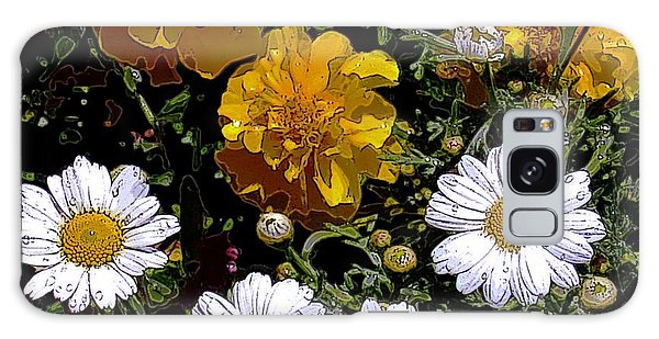 Daisies And Marigolds Galaxy Case by Dale   Ford
