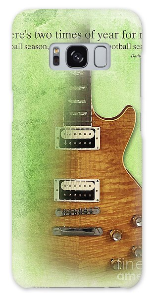 Darius Rucker Inspirational Quote, Electric Guitar Poster For Music Lovers And Musicians Galaxy Case by Pablo Franchi