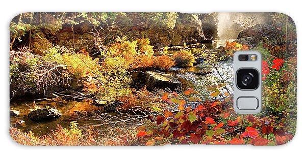 Dead River Falls  Marquette Michigan Galaxy Case