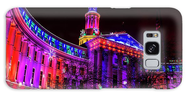 Denver City And County Building Holiday Lights Galaxy Case