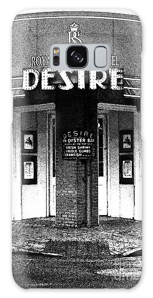 Desire Corner Bourbon Street French Quarter New Orleans Black And White Fresco Digital Art Galaxy Case