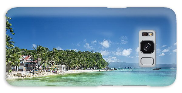 Diniwid Beach In Tropical Paradise Boracay Philippines Galaxy Case