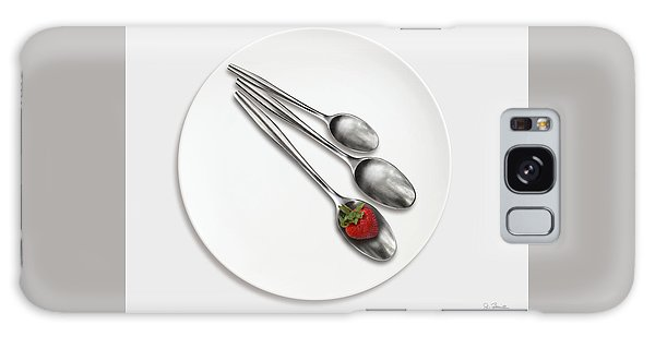 Dish, Spoons And Strawberry Galaxy Case by Joe Bonita