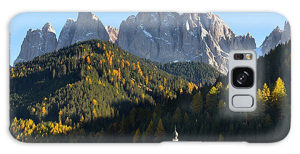 Dolomites Mountain Church Galaxy Case by IPics Photography