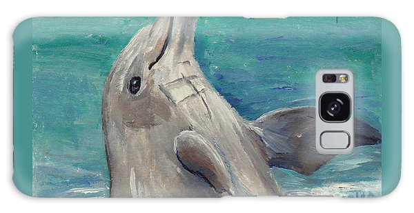Dolphin Aceo Galaxy Case by Brenda Thour
