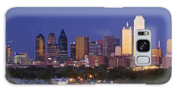 No-one Galaxy Case - Downtown Dallas Skyline At Dusk by Jeremy Woodhouse