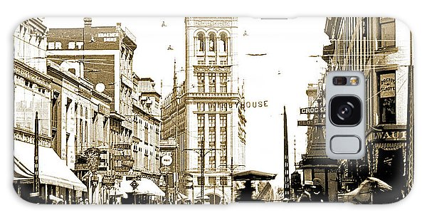 Downtown Milwaukee, C. 1915-1920, Vintage Photograph Galaxy Case