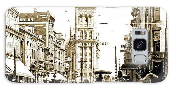 Downtown Milwaukee, C. 1915-1920, Vintage Photograph Galaxy Case