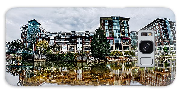 Downtown Of Greenville South Carolina Around Falls Park Galaxy Case