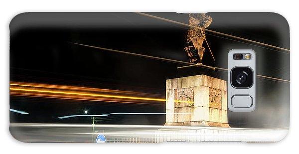 Drake's Statue Traffic Trails Iv Galaxy Case