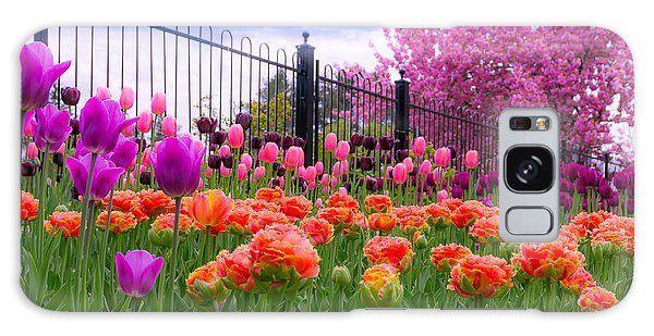 Dreamy Tulip Garden Galaxy Case