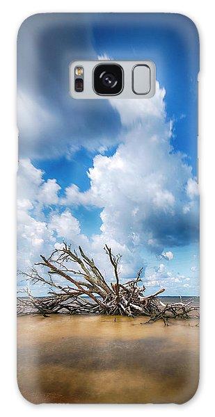 Galaxy Case featuring the photograph Driftwood Sky by Alan Raasch