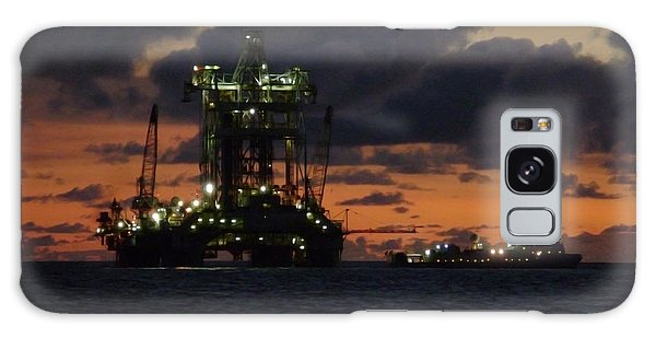 Drill Rig At Dusk Galaxy Case