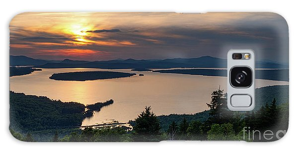 Dusk, Mooselookmeguntic Lake, Rangeley, Maine  -63362-63364 Galaxy Case