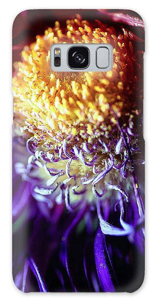 Dying Purple Chrysanthemum Flower Background Galaxy Case