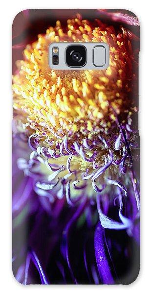 Dying Purple Chrysanthemum Flower Background Galaxy Case