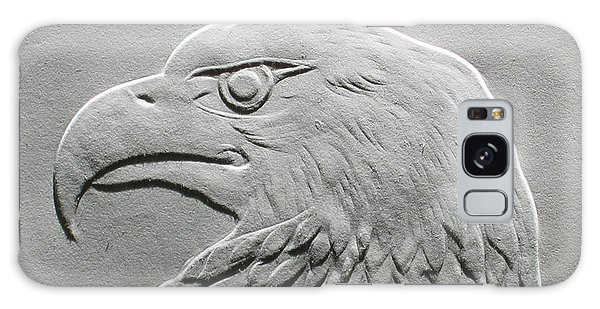 Eagle Head Relief Drawing Galaxy Case by Suhas Tavkar