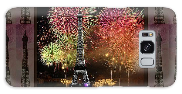 Effel Tower Paris France Landmark Photography Towels Pillows Curtains Tote Bags Galaxy Case