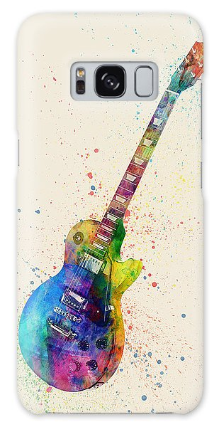 Musical Galaxy Case - Electric Guitar Abstract Watercolor by Michael Tompsett