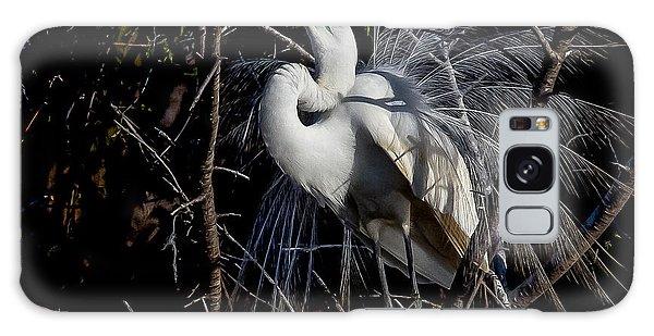 Elegant Egret Galaxy Case