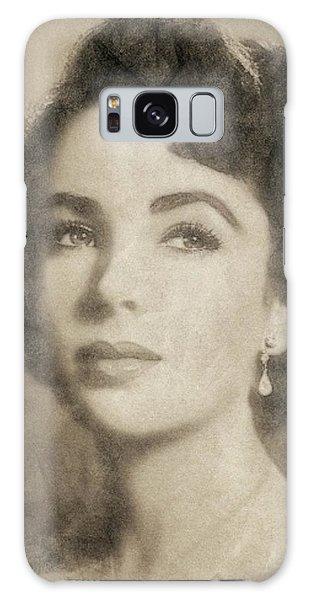 Elizabeth Taylor, Vintage Hollywood Legend By John Springfield Galaxy Case by John Springfield