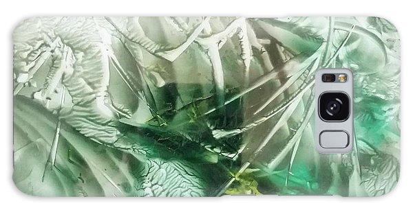 Encaustic Abstract Green Foliage Galaxy Case