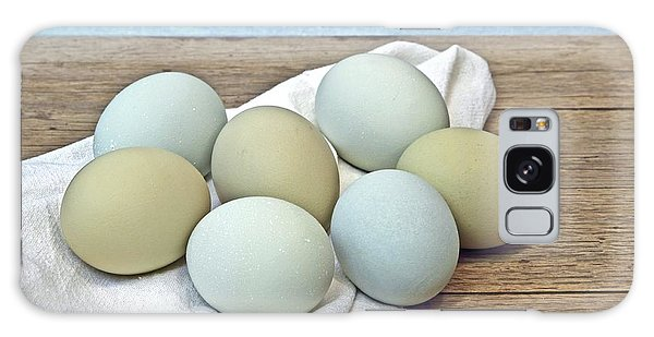 Exotic Colored Chicken Eggs Galaxy Case